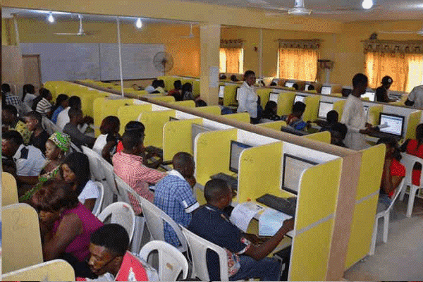 File photo: JAMB candidates taking the CBT examination/ Credit: Business Day