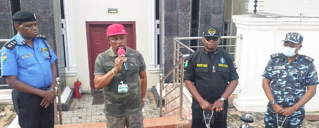 File Photo: Gov. Willie Obiano and heads of security agencies