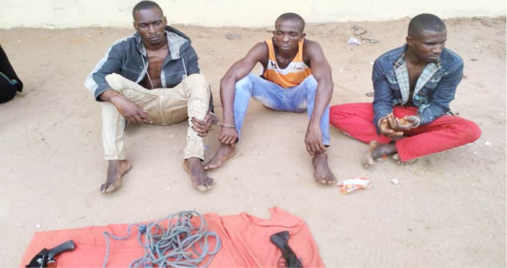 Suspected kidnappers of a lawyer paraded by police in Imo